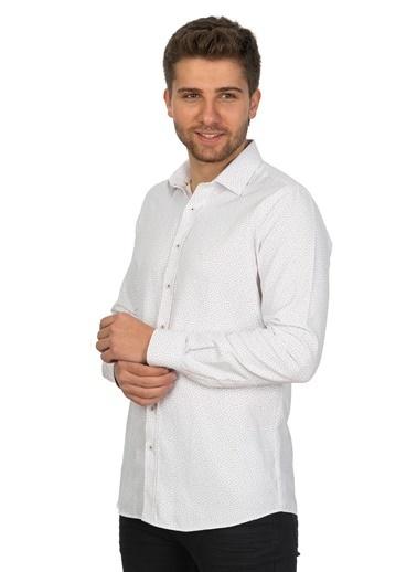 White Stone An Felipe De Puerto Plata Regular Fit Gömlek Desenli Renkli